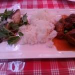 プティオザミ - ランチの魚料理と肉料理