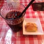 プティオザミ - ランチの一口デザートとアイスコーヒー