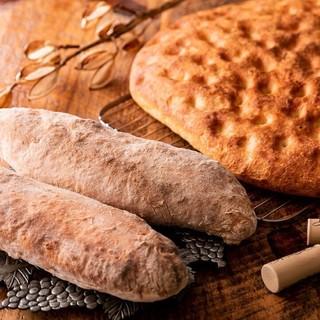 手作り生パスタと毎日焼き上げる自家製のパン