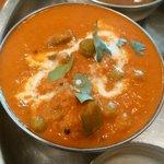 スパイスマジック カルカッタ - マドラスターリでチョイスした野菜カレーのアップ! チキンor野菜より1種類だけ選べます。