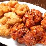 韓国料理 豚肉専門店 福ブタ屋 - フライドチキン+ガーリックしょうゆチキン