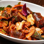 韓国料理 豚肉専門店 福ブタ屋 - スンデ野菜炒め