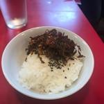 長浜屋台 やまちゃん - ランチサービスのご飯に辛し高菜