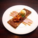 ブレッツカフェ エクスプレス - パイナップルとキャラメルのクレープ