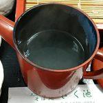 そば処きく池 - そば処 きく池 @板橋本町 赤丸湯桶で供される薄めの蕎麦湯