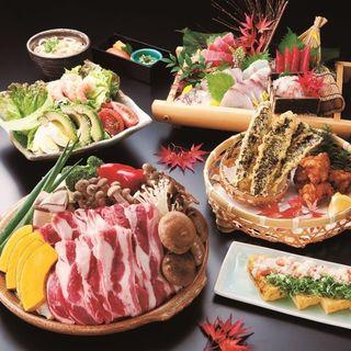 新宿での各種宴会にピッタリな、秋野菜と蒸し豚の味噌陶板コース