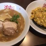 中華そば猪虎 - 中華そば(小)チャーハンセット ¥850-