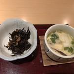 江戸川 - 小鉢と茶碗蒸し