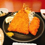 マルハチ商店 - ☆アジフライ&イカフライ定食☆