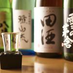 [厳選旨酒]日本酒は苦手と言っていたお客様もお代わりするぐらい、とても人気のある日本酒があります。