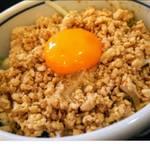自家製麺 風心 - 鶏そぼろ丼