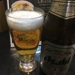 自家製麺 風心 - 瓶ビール¥500