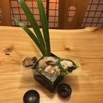 旬味 鮮心 魚屋 富重 - お造り(全景)