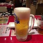 ステーキとホルモン佐藤 - まずは生ビール