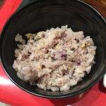 ステーキとホルモン佐藤 - 五穀米