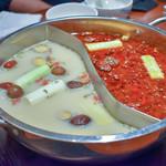 91809733 - 大鍋(白湯と麻辣スープの2種類)