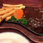 ハードロックカフェ - ★★★☆ ハンバーグランチ 粗挽きのしっかりしたハンバーグ お肉の歯ごたえや味がワイルドで美味しい!