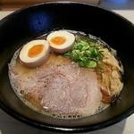 らーめん まぜそば 僕らのキラメキ -近畿大学- - 料理写真:【サバ白湯らーめん 並 + 煮たまご】¥750 + ¥100