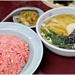 みん亭 - ラーチャン 850円 キムチ→チャーハン→ラーメンと延々ループできるセットです。