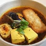 スープカレーの田中さん - 9月のマンスリー 梅しそ包みチキンカツレツと豆腐スープカレー 1000円