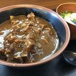 麺屋 まる - 火曜日限定カレー丼(ミニうどん付き)カレー丼サイドより!