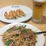 れんげ食堂Toshu - 後日のチョイ呑みレバニラセット950円