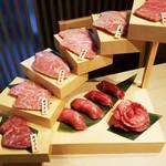 肉いち枚 - インスタ映えの肉階段(9000円コースのみ)