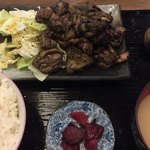 つた屋 - 料理写真:おやどり(炙り焼き)定食1000円税込(2018.08)