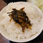 南蛮食堂 - ご飯とサービスの高菜