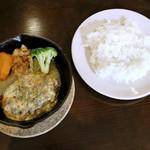 日東コーナー - テリヤキチーズ ハンバーグ、ライス