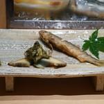 鮨 魯山 - 鮑と稚鮎