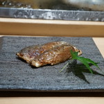 鮨 魯山 - 鰯に秋刀魚の肝ソース