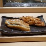 鮨 魯山 - 穴子:ツメと塩
