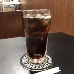 前田珈琲 - 「ローストビーフ丼セット」2484円のアイスコーヒー(伊勢丹新宿店「京都展」)