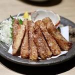 もつ唐と水炊きもつ鍋 由乃 - 長芋の唐揚げ