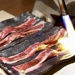 もつ唐と水炊きもつ鍋 由乃 - 国産黒毛和牛炙り寿司