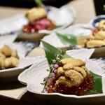もつ唐と水炊きもつ鍋 由乃 - うにく寿司