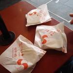 91858154 - 食べ歩き用の梅ヶ枝餅