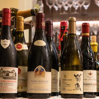 食前酒からワインまで、好みや料理にあわせてご提案いたします