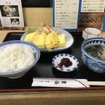 豊福 - いただいたのは「出し巻き定食」ご飯大盛りで700円でした(2018.8.31)