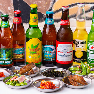 Gyozaにはやっぱりビール!メイソンジャーのカクテルも人気