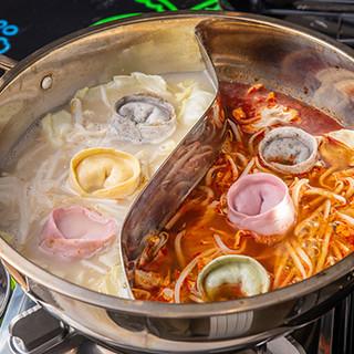 選べるスープが嬉しい!〆まで美味しいギョウザなべ