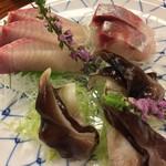 利久庵 - 刺身:鳥貝/かんぱち