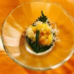 神田きくかわ - 料理写真:小柱と海藻麺