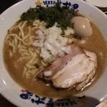 濃厚煮干しラーメン 麺屋 弍星 - 煮干ラーメン+味玉