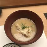 鮨処 さく松 - 渡り蟹のお味噌汁!