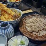 松玄 - 松玄特製大海老天丼&せいろ蕎麦セット