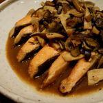 南方中華料理 南三 - 燻製サーモン雲南きのこあんかけ雲南黒トリュフ