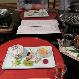 ぬしや - 料理写真:季節の食前酒、前菜
