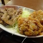 91884222 - A定単品は鶏のから揚げと豚肉の生姜焼き